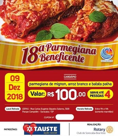 18 Parmegiana Beneficente da Integra Surdos e Rotary Sorocaba - 2018