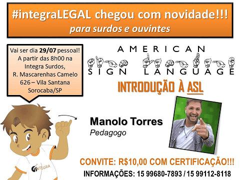 ASL - Língua Americana de Sinais - Integra Legal