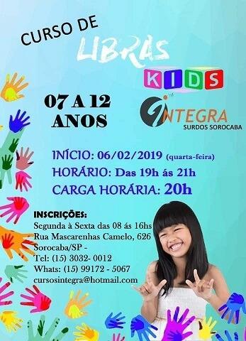 Curso de LIBRAS para Crianças - LIBRAS Kids Fevereiro/2019